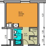 Appartement 34 m²