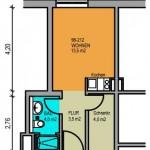 Appartement 25 m²